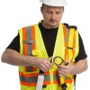 Worker with personal protection equipment and uniform