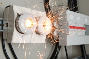 Arc flash overload in electrical circuit