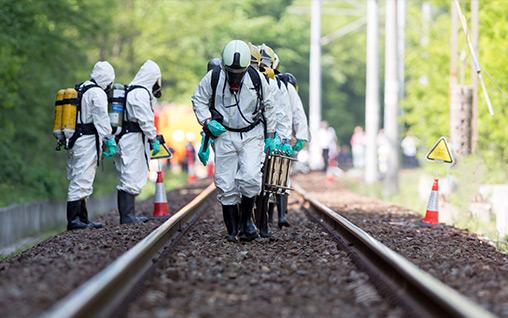 OSHA 40 Hour HAZWOPER Training prepared workers for train incident